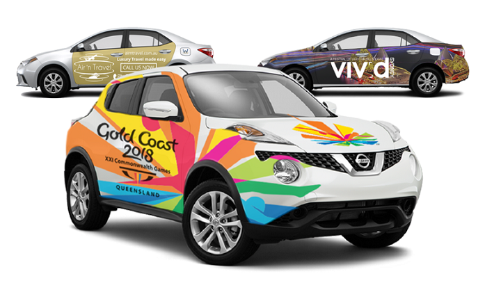 wrappli logo image, with multiple cars with advertising